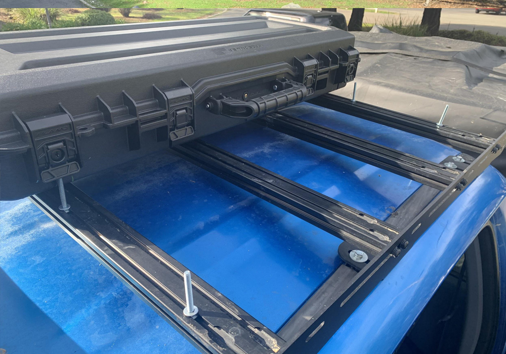 Plano Tactical Case Review & Install on Prinsu Rack For 2nd & 3rd Gen Tacoma: Step-By-Step Install: Step 1. Measure Where To Drill Holes For Placement