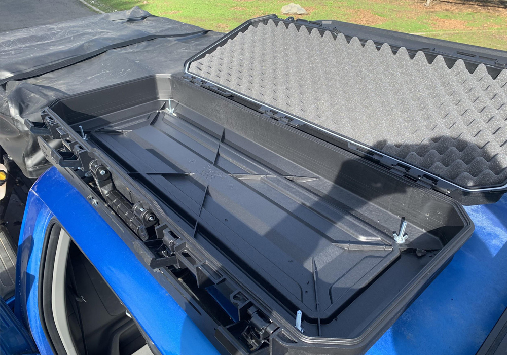Plano Tactical Case Review & Install on Prinsu Rack For 2nd & 3rd Gen Tacoma: Overview: Step 3. Waterproof Case Using Silicone Adhesive