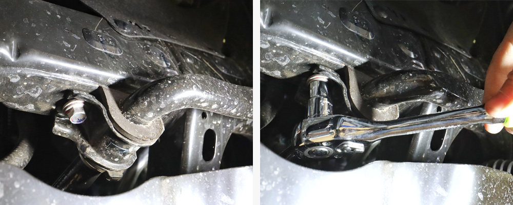 Eibach Pro-Truck Stage 1 Lift System - DIY Install + Overview For the 2020 3rd Gen Tacoma: STEP 4. REMOVE THE SWAY BAR FROM THE FRAME