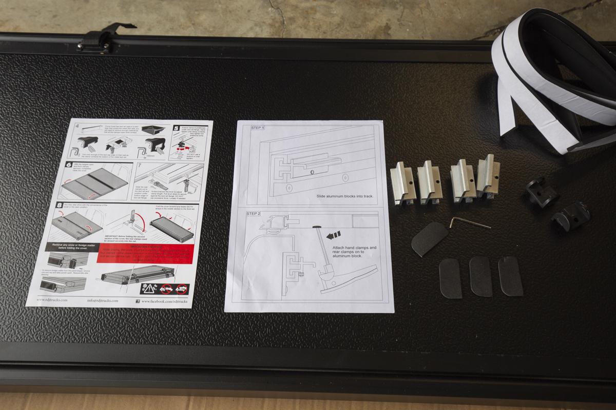Tri Folding Tonneau Bed Cover Tacoma - Install Step 1