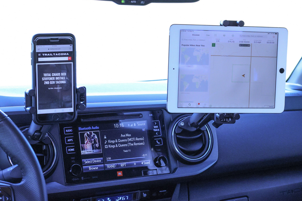 Hondo Garage Un-Holey Tacoma Dash Mount for Phone and Tablet and Perfect Squeeze