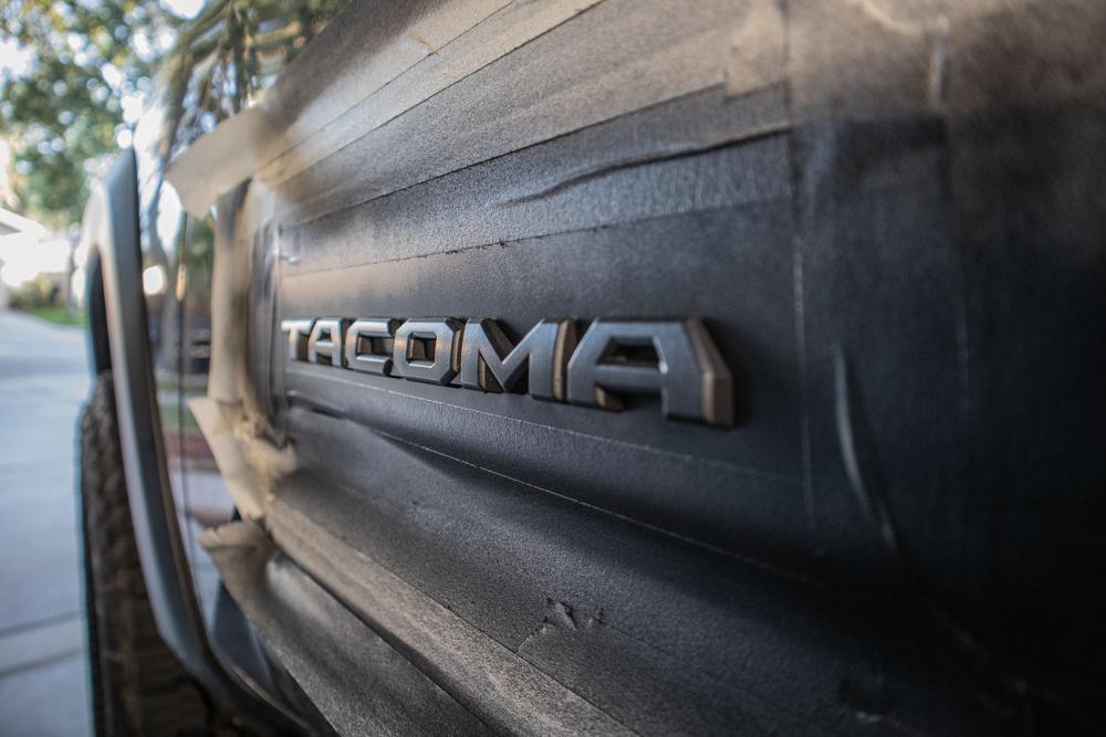 Plasti-Dip Emblems & Chrome on Tacoma