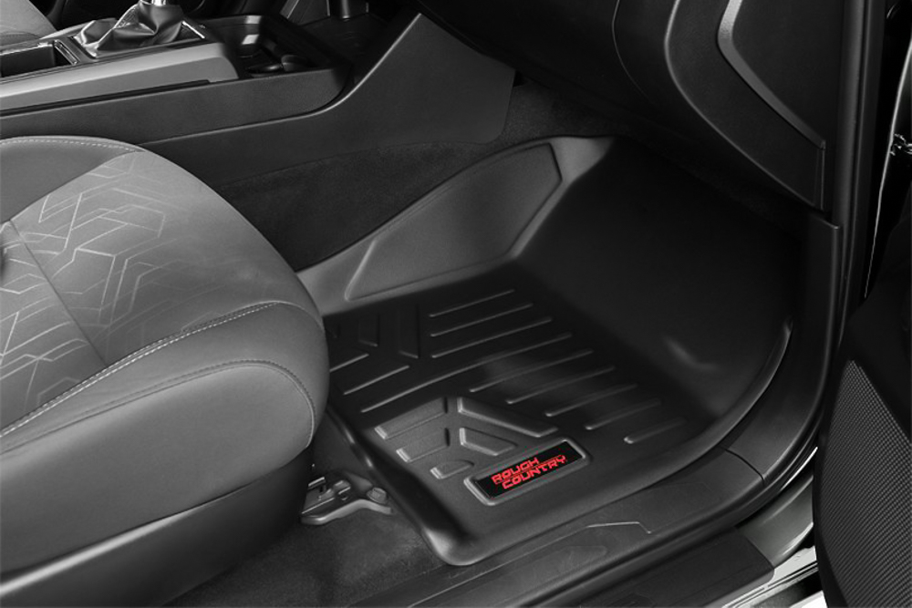 Rough Country Heavy Duty Front Floor Mats for 3rd Gen Tacoma