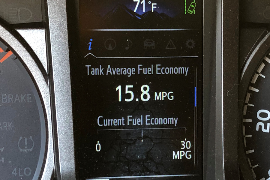 Fuel Economy Display on 3rd Gen Tacoma