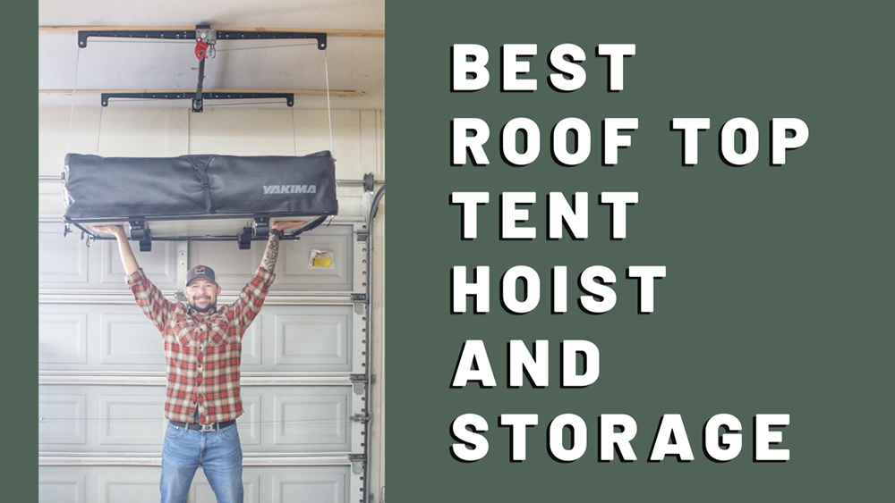 Roof Top Tent Garage Hoist Tacoma