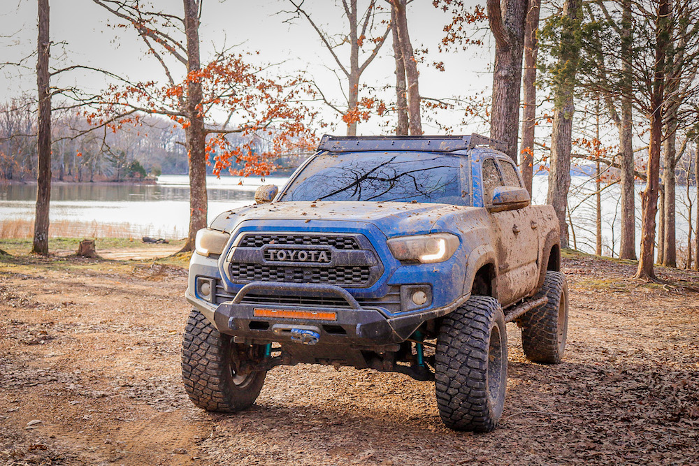 Lifted 3rd Gen Tacoma with Southern Style Off-Road Slimline Bumper & Stage 2 High Clearance