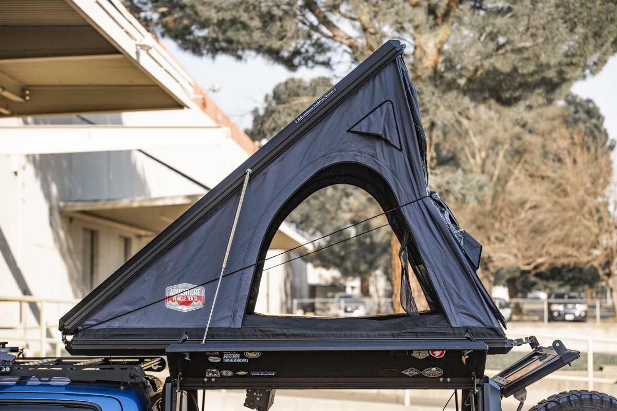 Aluminum Hardshell Rooftop Tent on 3rd Gen Tacoma