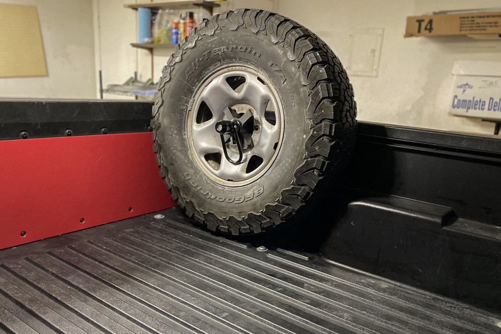 Wilco Offroad Bed Rail Tire Carrier Install for Tacoma