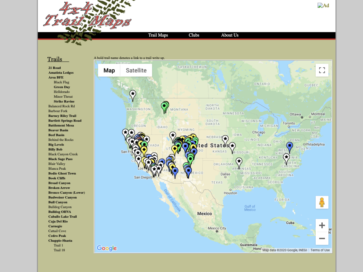 4x4trailmaps.com - Techincal Trails with Lots of California & Colorado