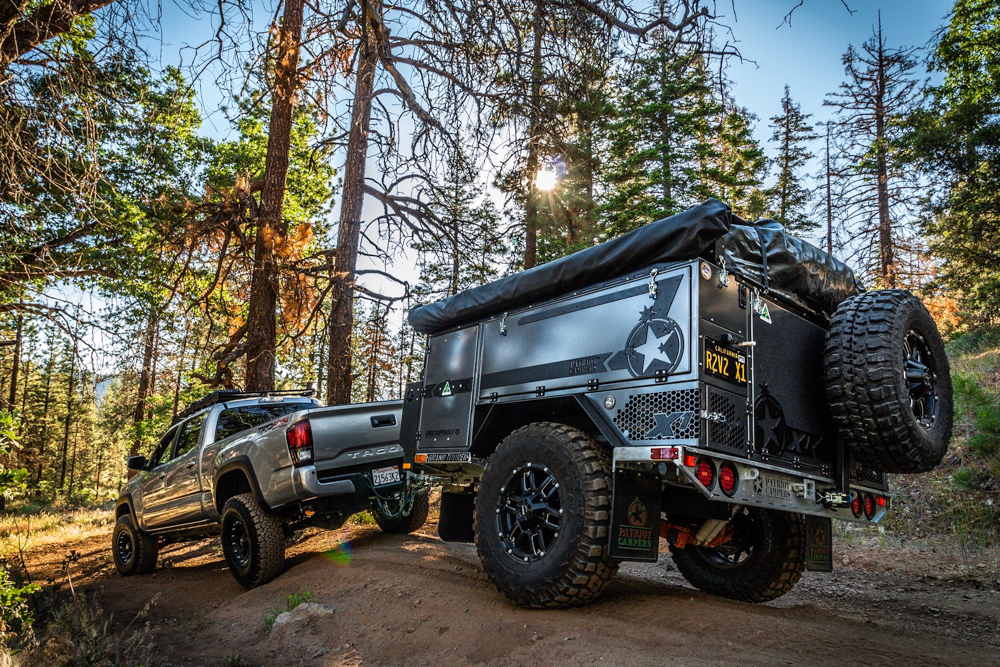 Lifted 3rd Gen Tacoma with X1 Patriot Camper