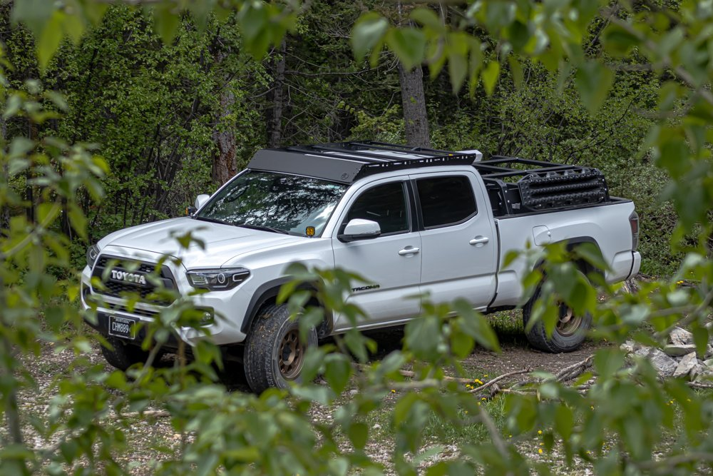 AL Offroad Roof Rack on Super White 3rd Gen Tacoma