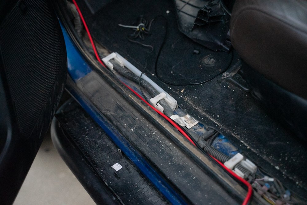 Hiding Wires for Wagan Tech Power Inverter Install