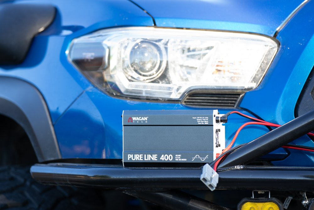 Wagan Tech Pure Line 400W Inverter in 3rd Gen Toyota Tacoma