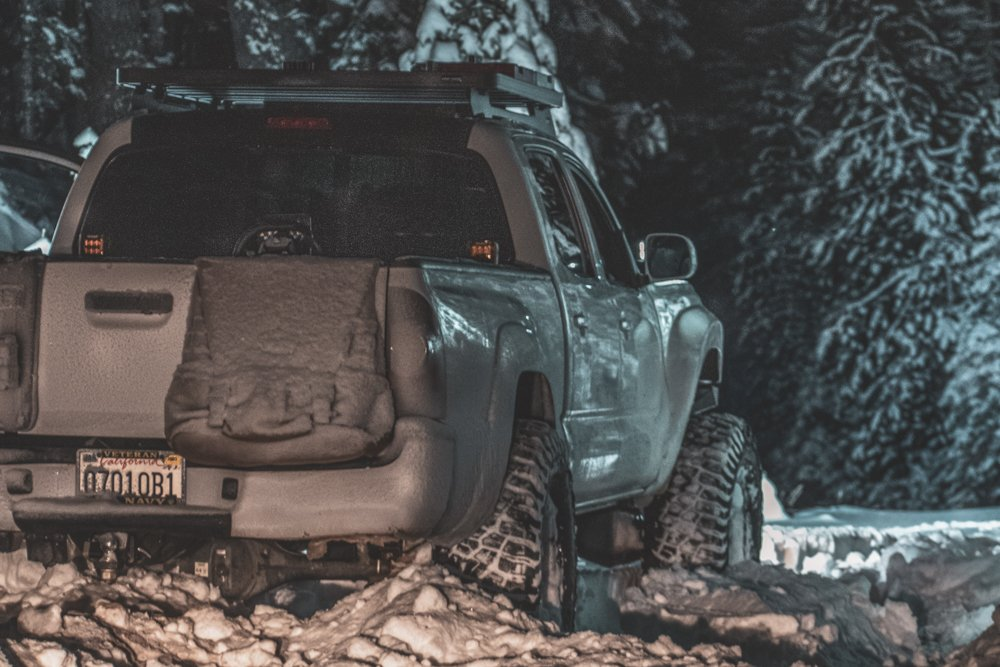 Snow Wheeling in Lifted 2nd Gen Tacoma