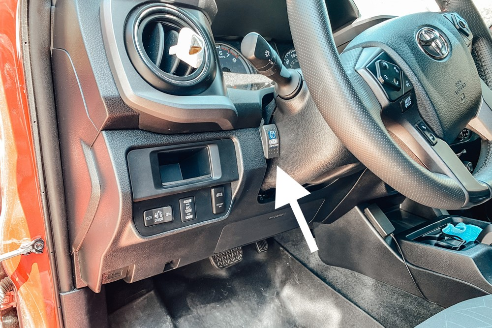 Mounting ARB Air Compressor Isolation Switch in 3rd Gen Tacoma