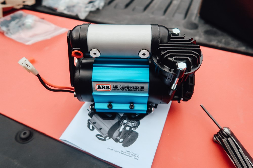 Adjusting Orientation of ARB Air Compressor