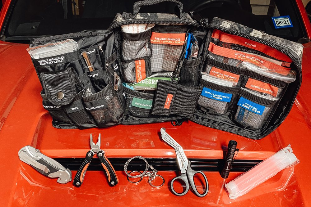 Surviveware Survival First Aid Kit Contents for Car & Hiking