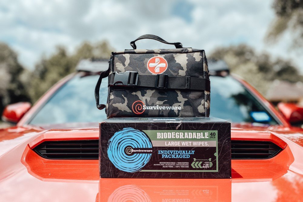 Surviveware Survival First Aid Kit & Biodegradable Wet Wipes Review