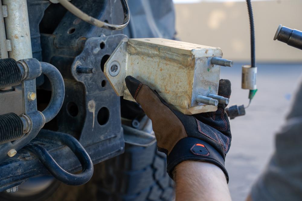 Removing Aluminum Bumper Crash Bar Support/Spacer Blocks
