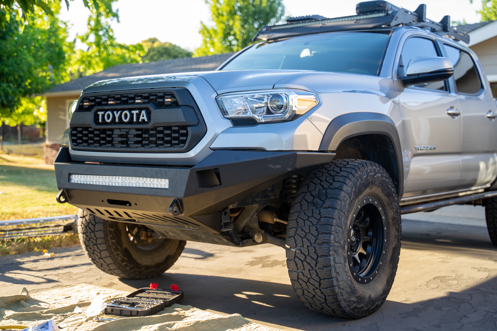 Step-By-Step DIY Body Armor 4X4 Pro Series Front Bumper Install for 3rd Gen Tacoma