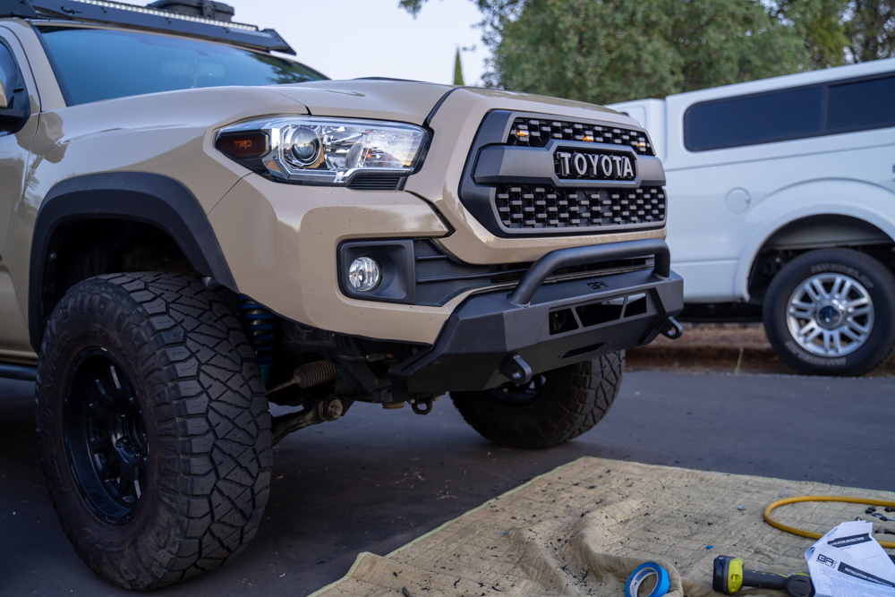 Body Armor 4X4 HiLine Front Bumper Step-By-Step Install on 3rd Gen Tacoma
