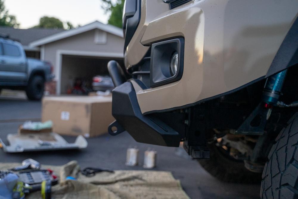 Body Armor 4X4 Tacoma HiLine Front Bumper Side Profile