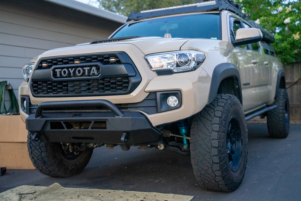 Body Armor 4X4 Off-Road HiLine Front Bumper on 3rd Gen Tacoma