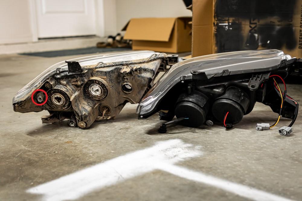 Spyder Auto Headlights VS OEM Headlights
