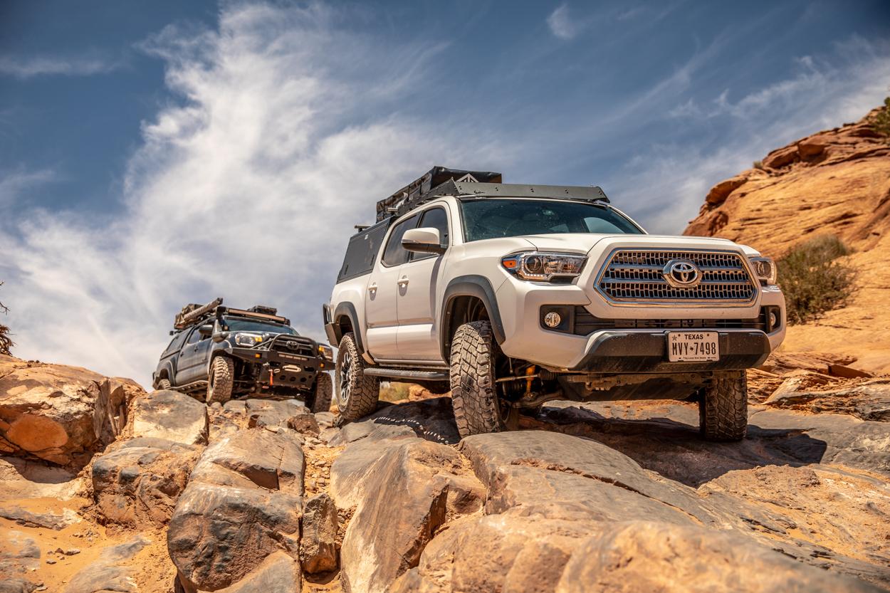 Technical Portion of Hell's Revenge Trail in Moab, Utah
