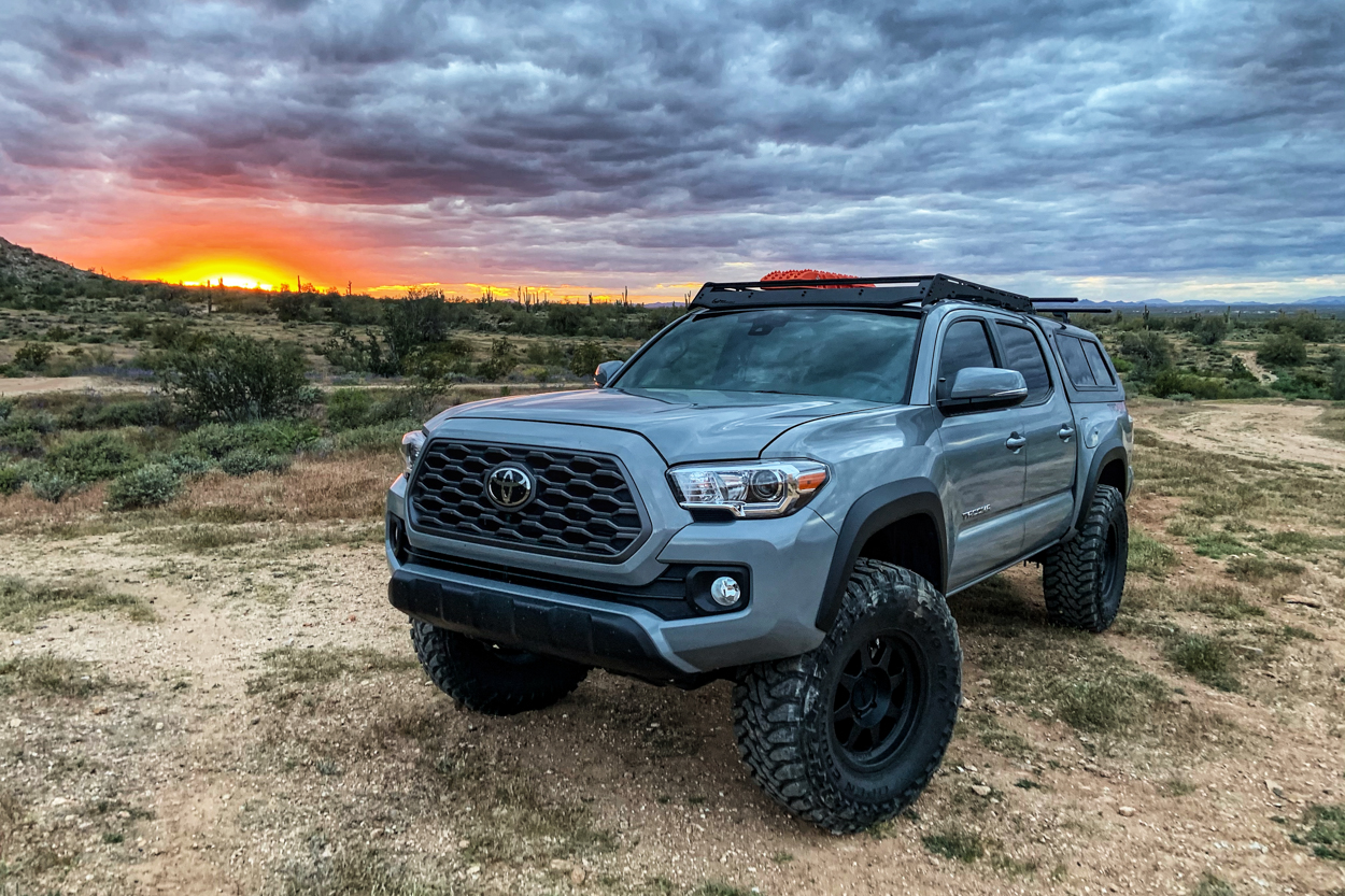 Lifted Cement 3rd Gen Toyota Tacoma on 35-Inch Tires