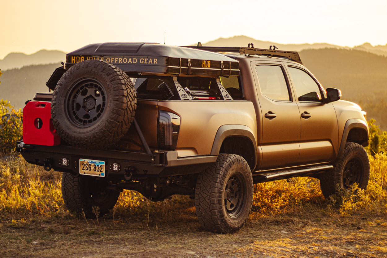 Foldable Hard Shell Rooftop Tent on 3rd Gen Toyota Tacoma