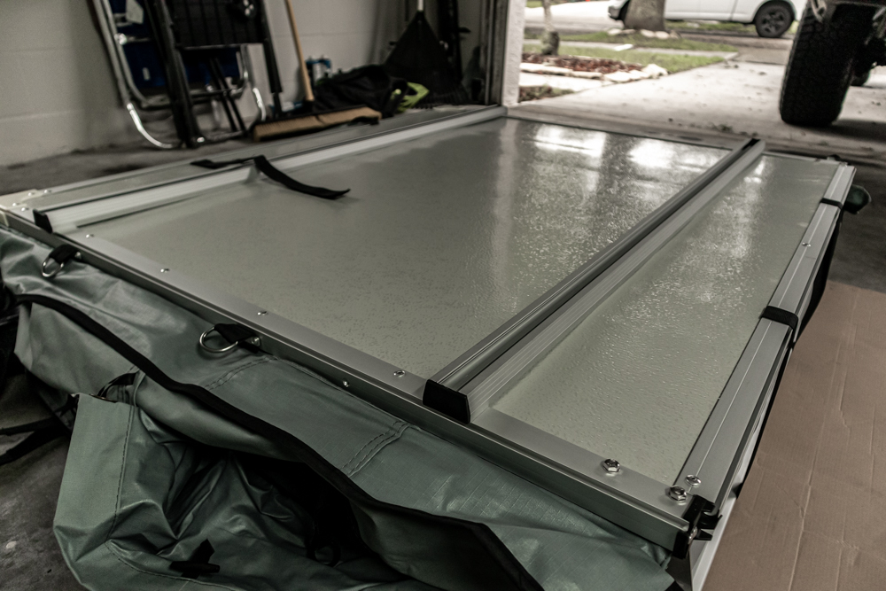 Installing Tent Mounting Rails on Rooftop Tent