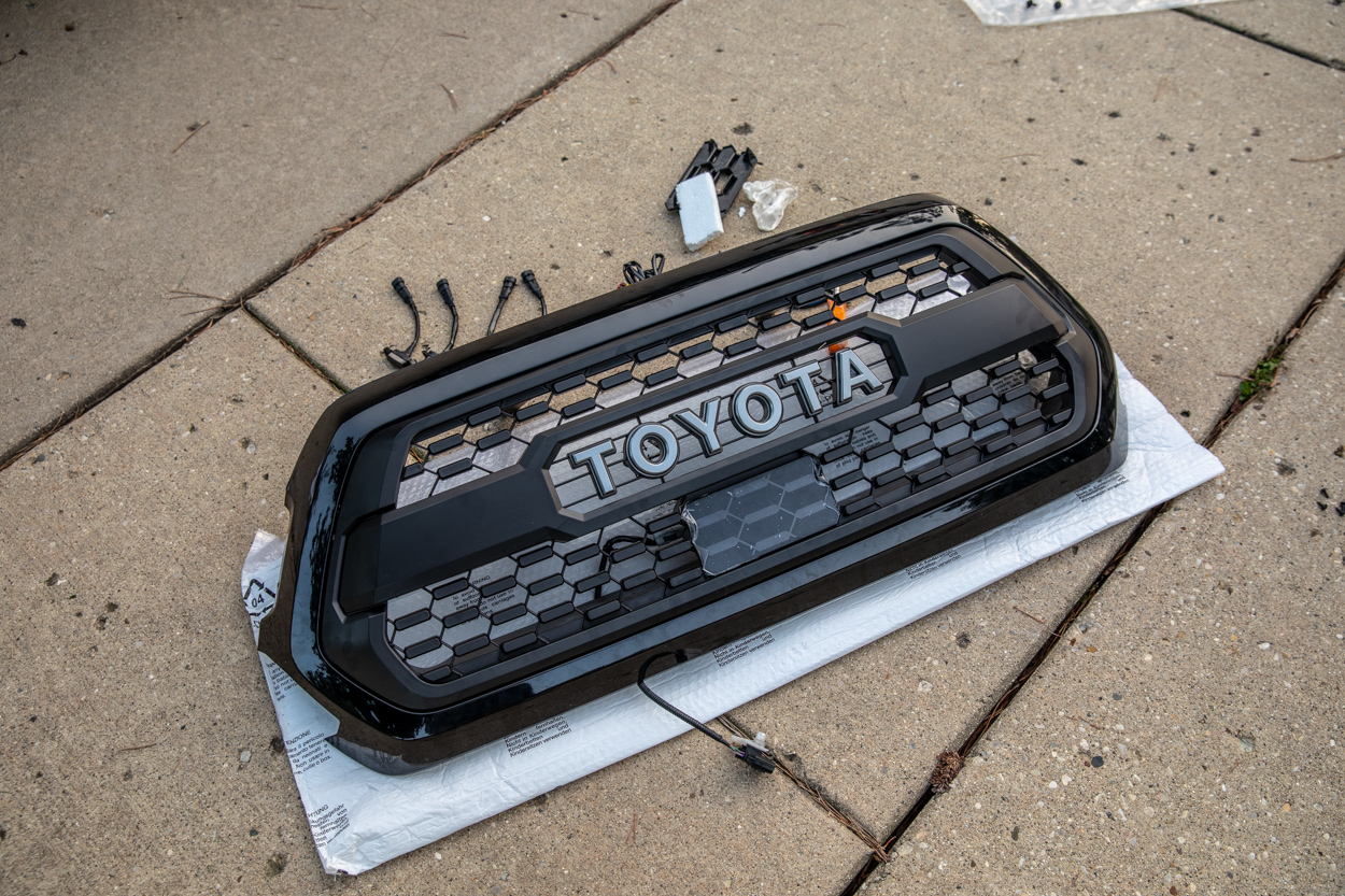 Installing TRD Pro Grille Insert into OEM Grille on 3rd Gen Tacoma