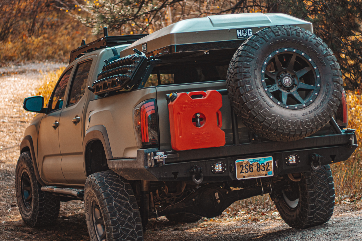 Aftermarket Steel Rear Bumper with Swing-Out Tire Carrier - 3rd Gen Tacoma