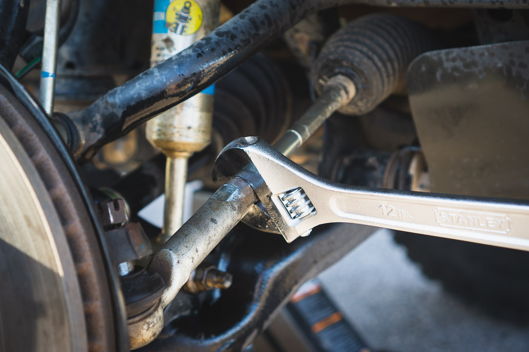 Loosening Jam Nut on Outer Tie Rod End - 3rd Gen Toyota Tacoma