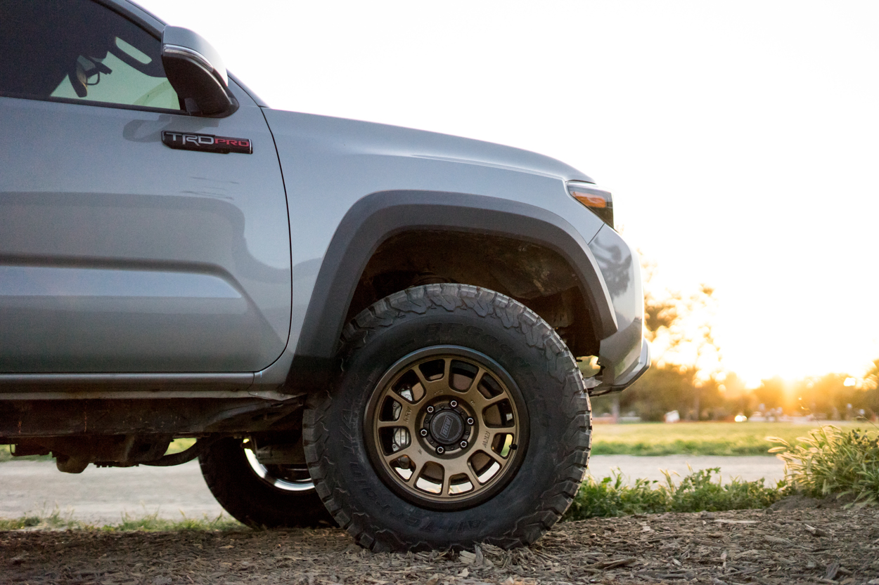 TRD Pro 3rd Gen Tacoma with Aftermarket Wheels - Relations Race Wheels RR5-S