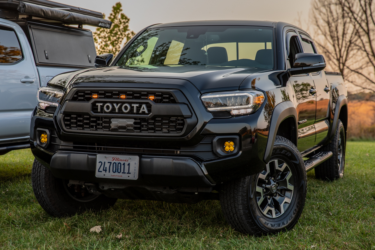 Midnight Black Metallic 3rd Gen Tacoma with Toyota Pro Shop Replica TRD Pro Grille