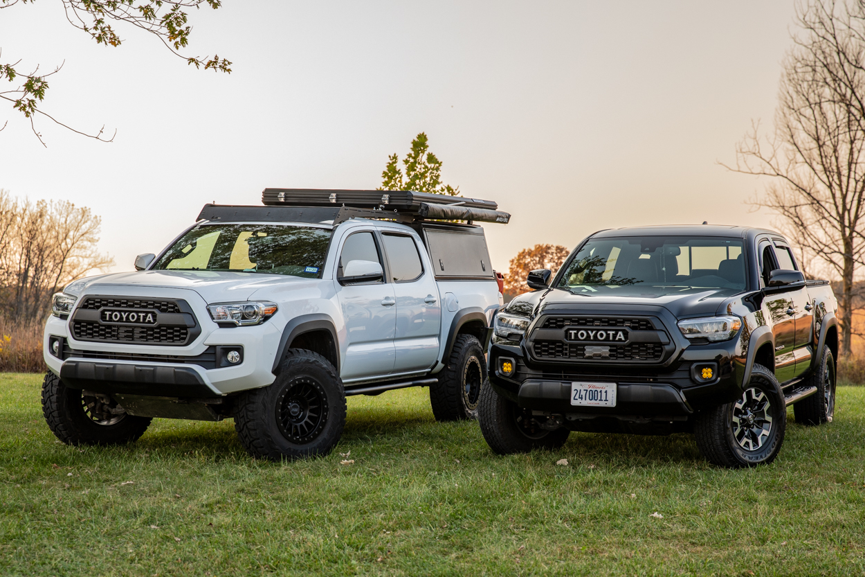 Lifted & Stock 3rd Gen Tacomas with Toyota Pro Shop TRD Pro Grille