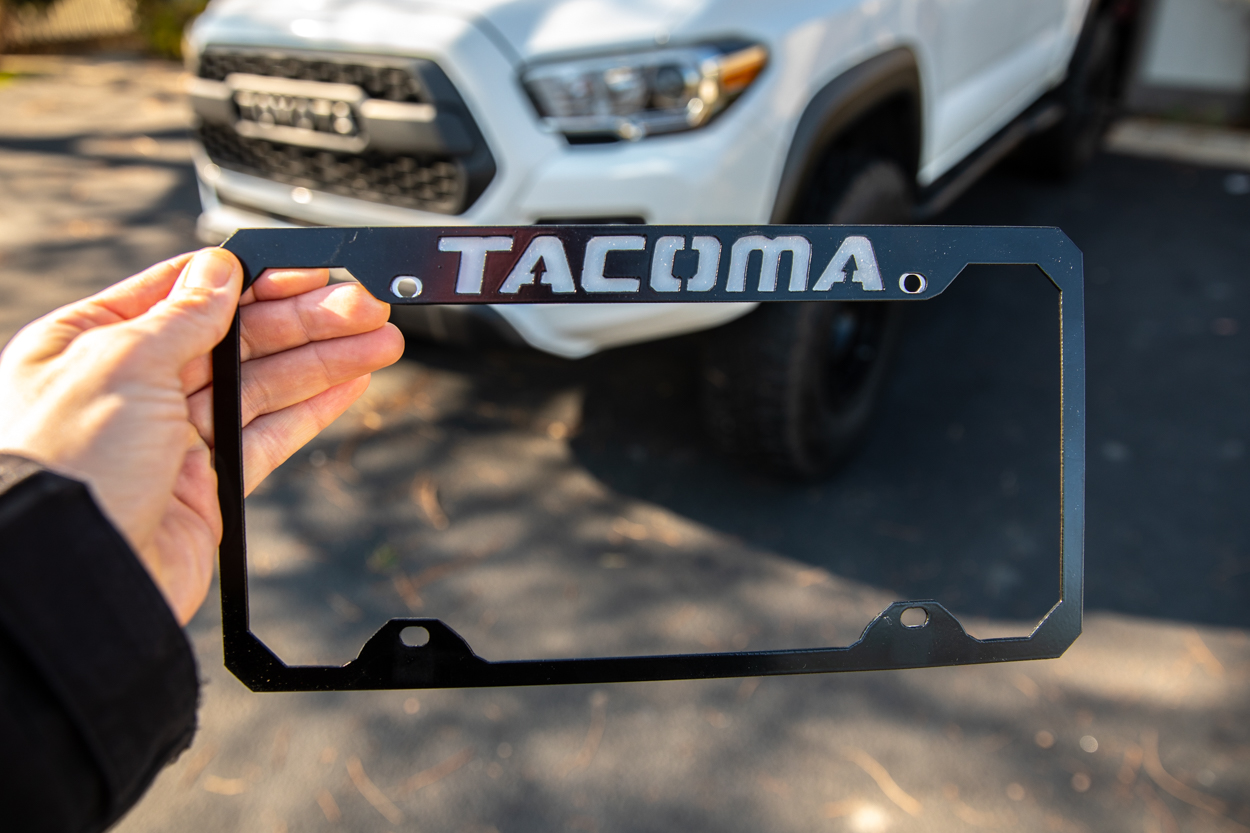 High Quality Metal License Plate Frame for Toyota Tacoma