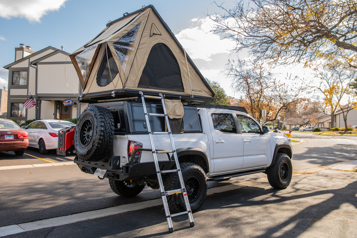 AreaBFE Black Series Aluminum Hard Shell Rooftop Tent Install & Setup