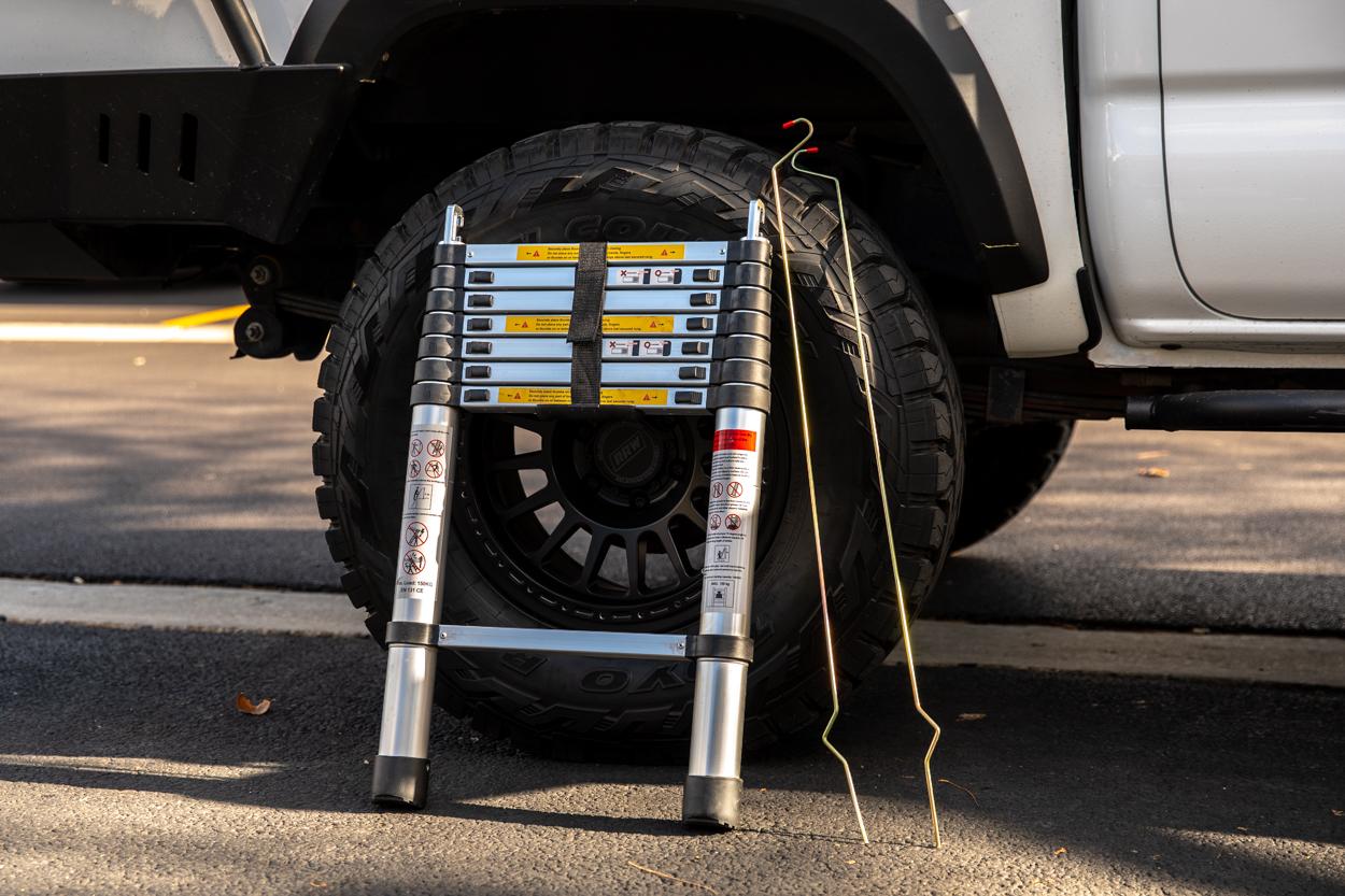 Ladder & Rain Fly Pole Install for AreaBFE RTT