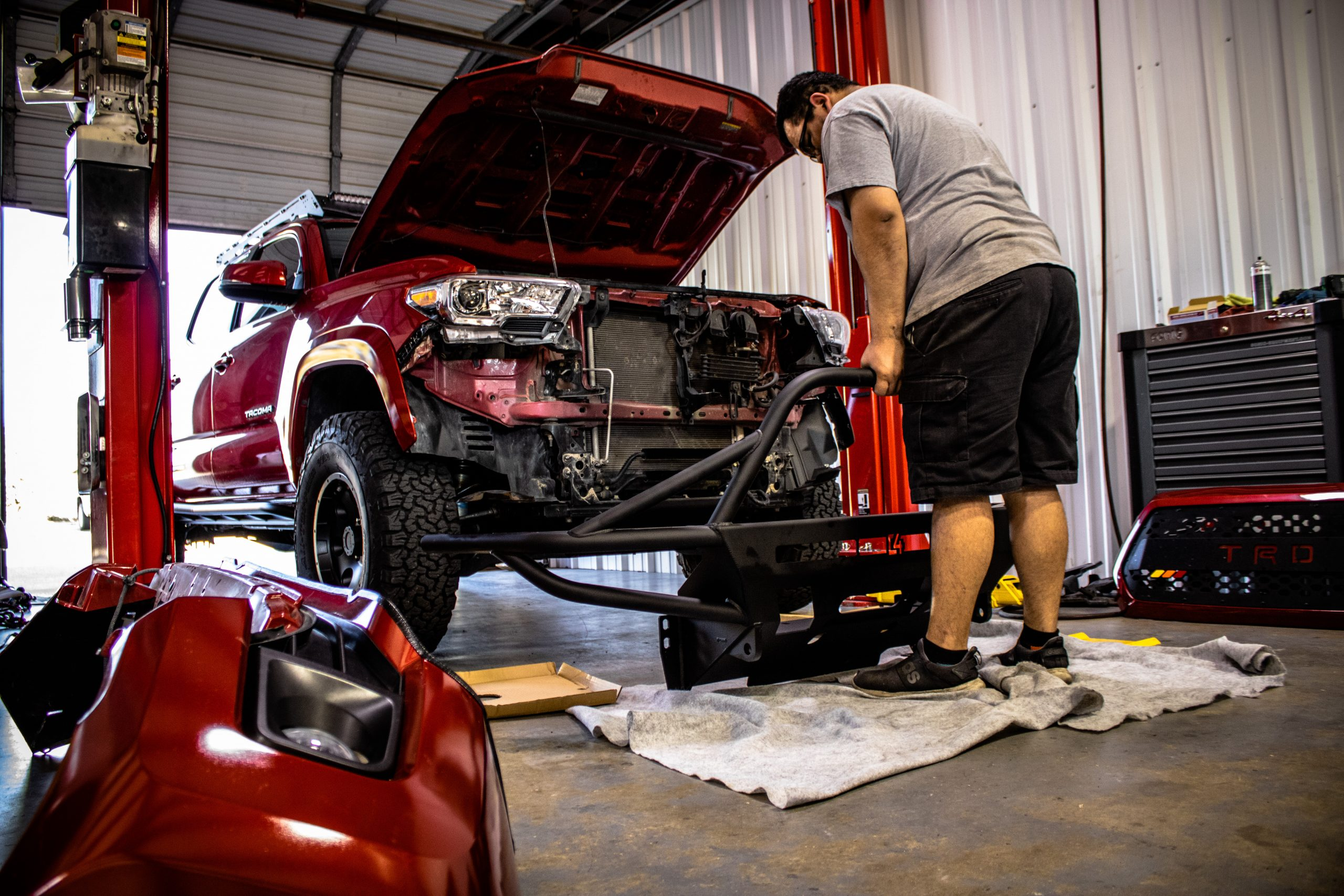 Outlaw Off-Road & Performance Shop - C4 Front Bumper Install