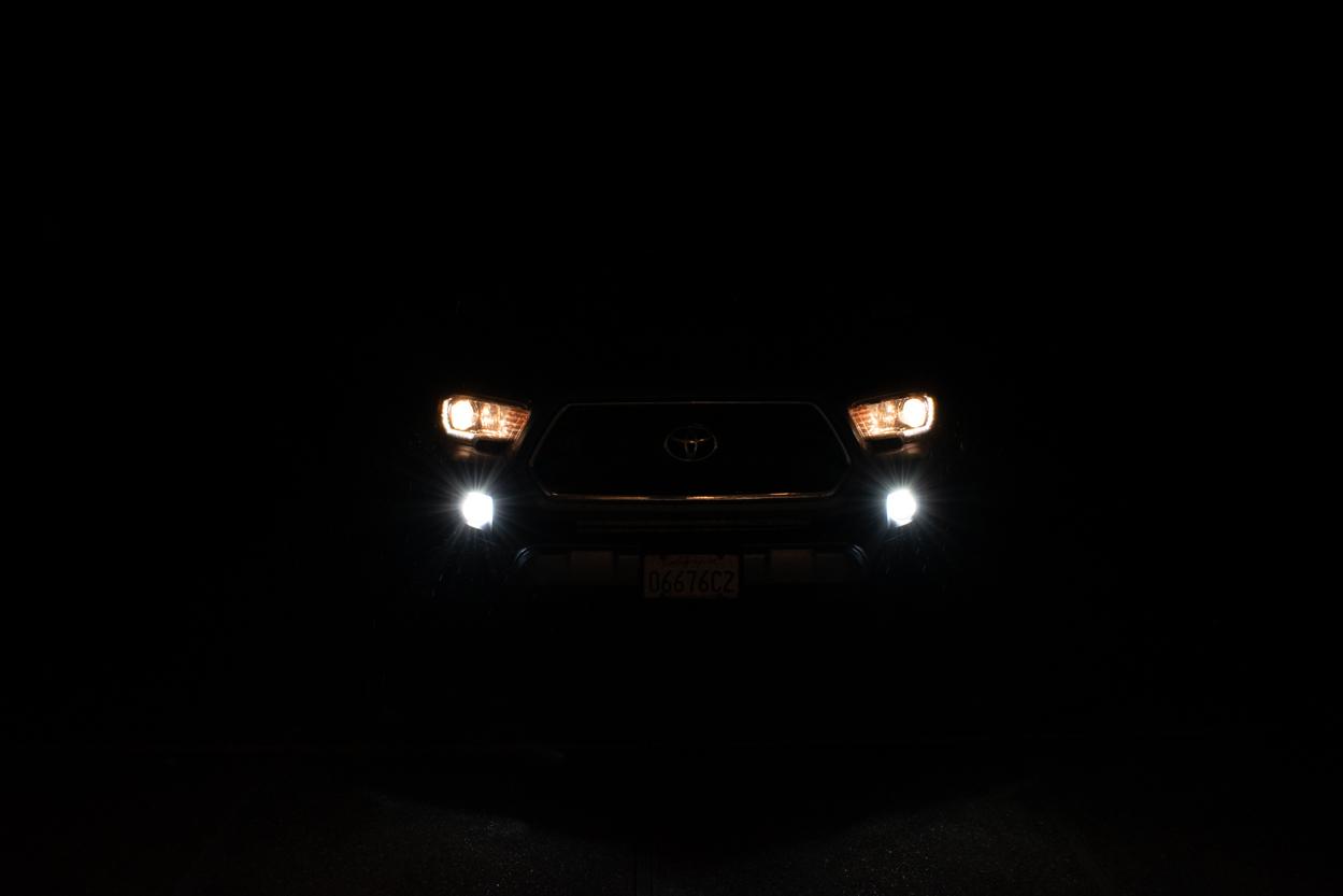 LASFIT White LED Fog Light Output