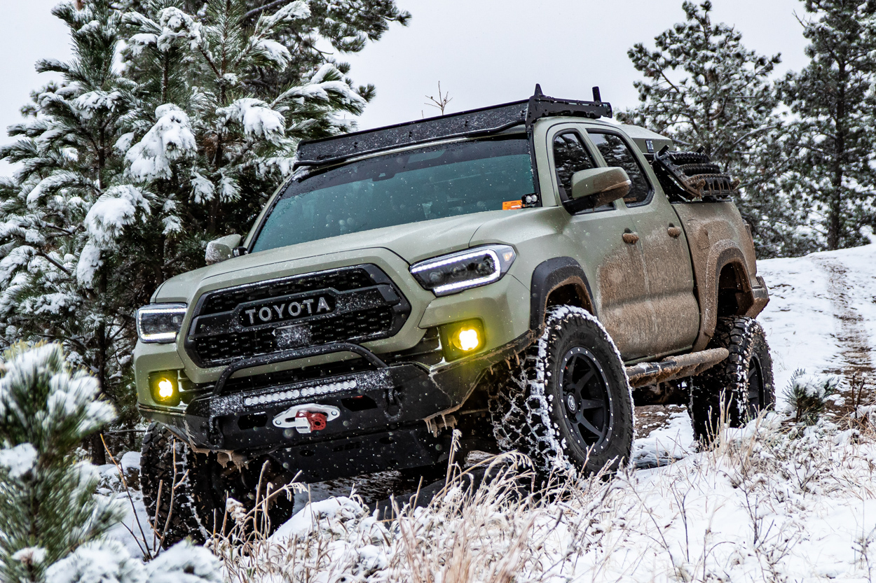 Lifted 3rd Gen Toyota Tacoma with Nitto Tire Ridge Grapplers - Snow Performance