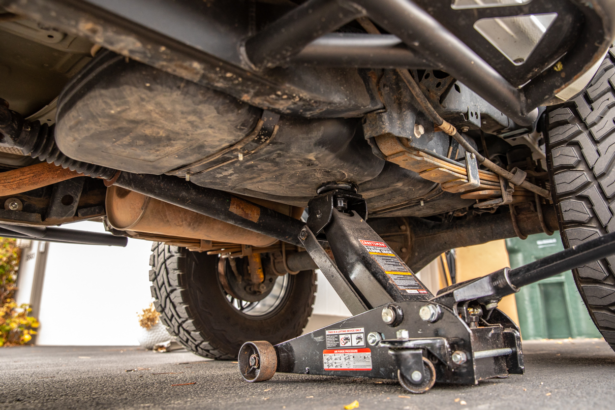 Installing New Gas Tank Straps for Aluminum Gas Tank Skid Plate from Element by RA Motorsports