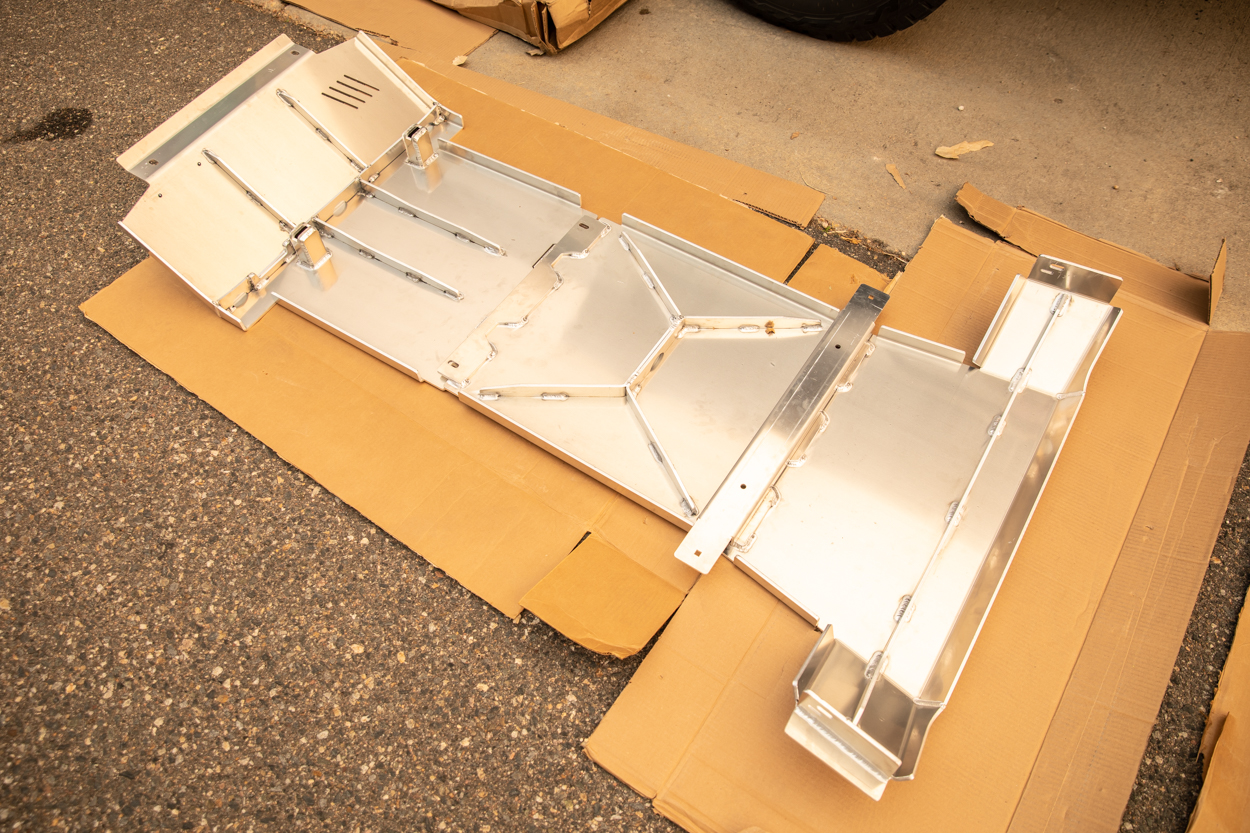 Aluminum Transfer, Mid/Transmission & Front Skid Plates from Element by RA Motorsports