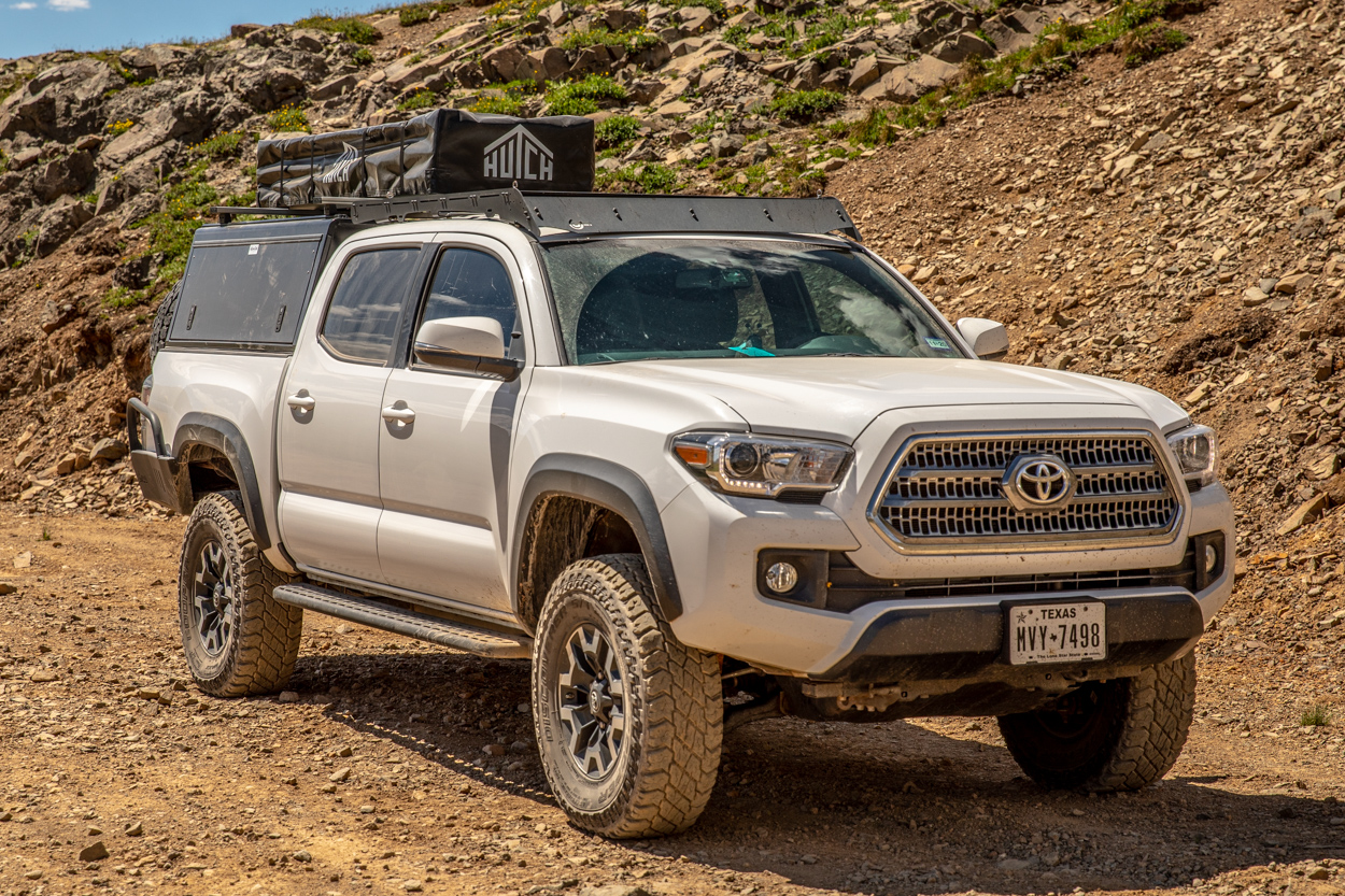 Bolt-On Rock Sliders with Dimpled Top Plate on 3rd Gen Tacoma - Shrockworks