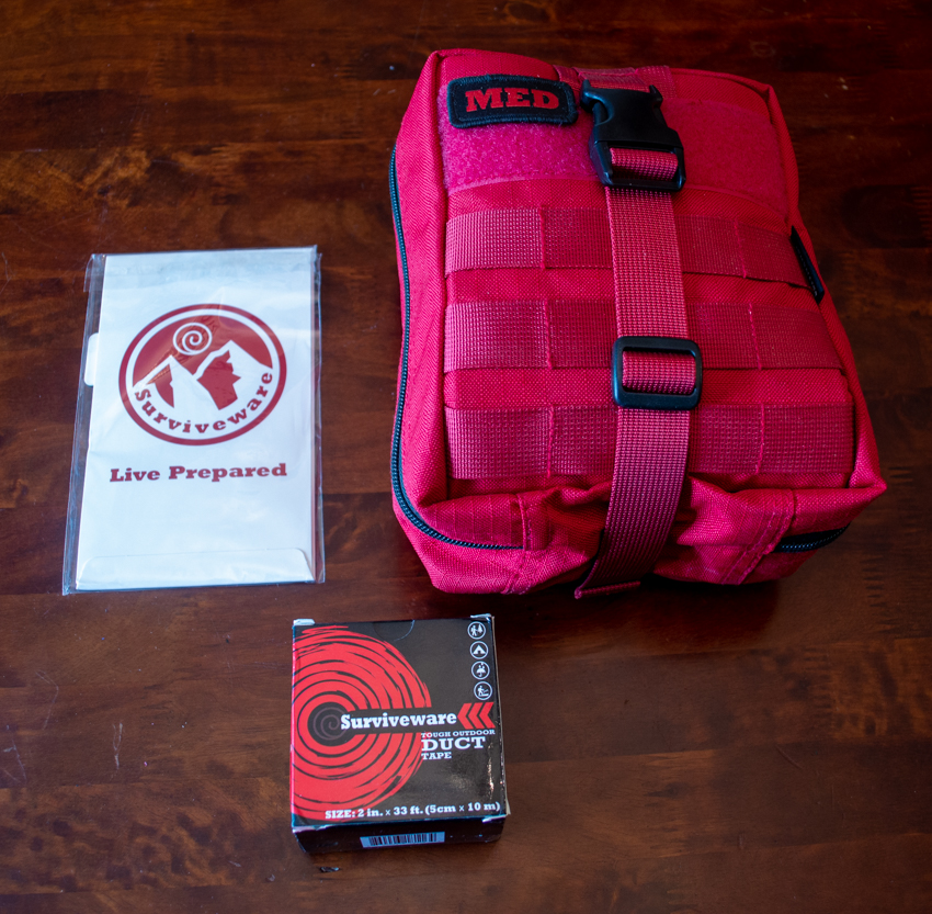 Compact First Aid Kit for Camping, Hiking & Outdoor Activities