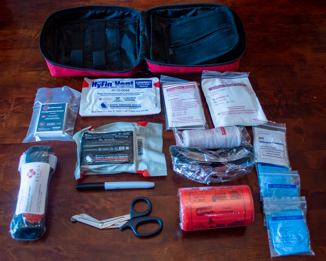 Surviveware Trauma First Aid Kit Contents