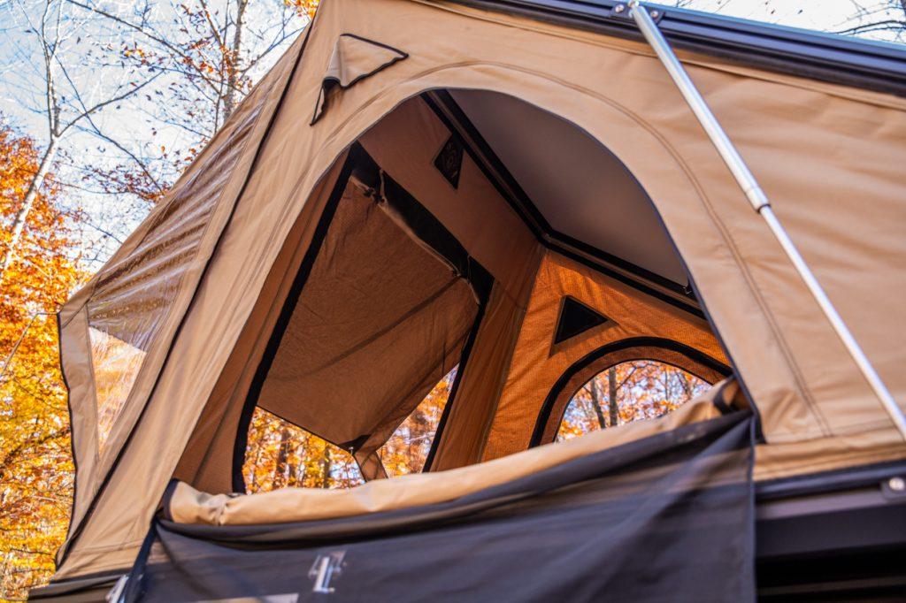 Door/Windows on the AreaBFE Aluminum Rooftop Tent